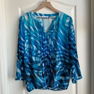 Calvin Klein beautiful blue top size Medium